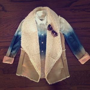 FREE PEOPLE Ombré Button Down XS